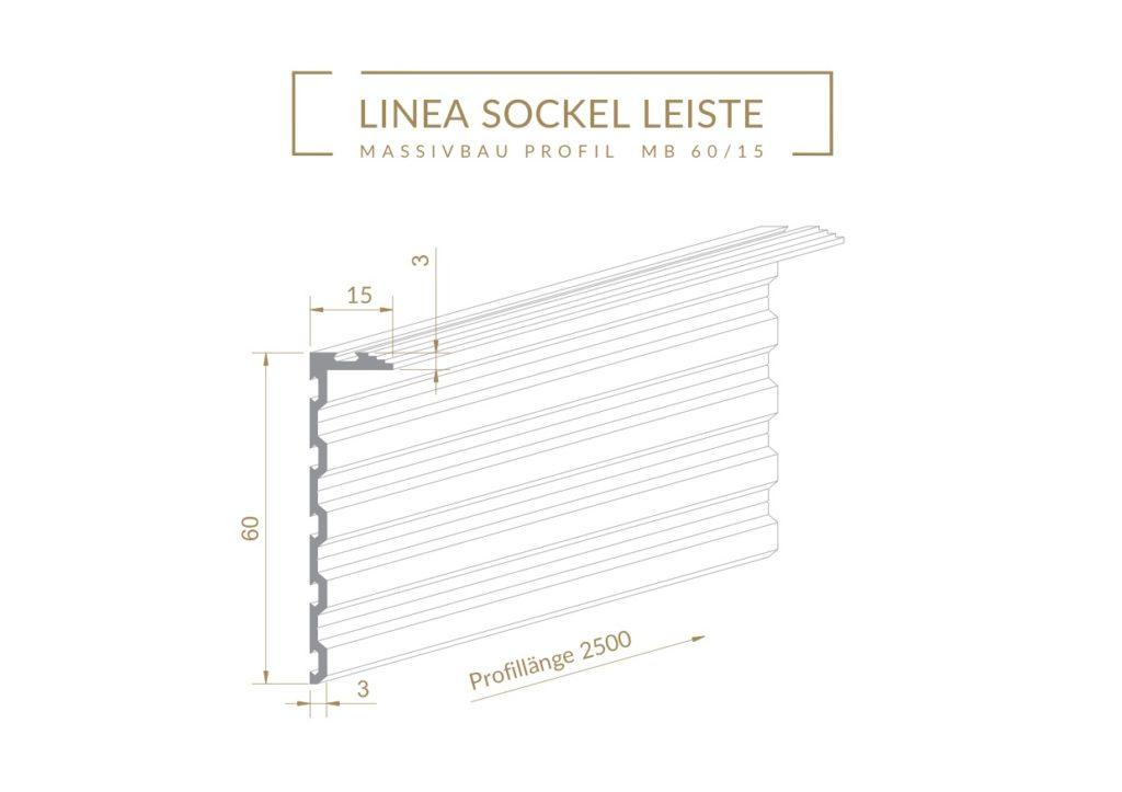 Linea Profil MB6015 für flächenbündige Sockelleisten